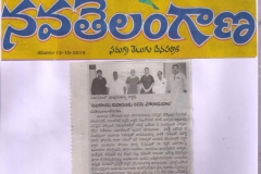 Obesity Operation in Hyderabad by Dr V Pareek published in NavaTelangana newspaper