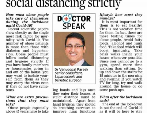 Get today Best Obesity surgery by Dr Venugopal Pareek, Best Weight loss specialist near me Hyderabad