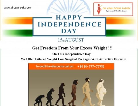 Independency day wishes by Dr Venugopal Pareek, Best Bariatric and Laparoscopic surgeon in Hyderabad