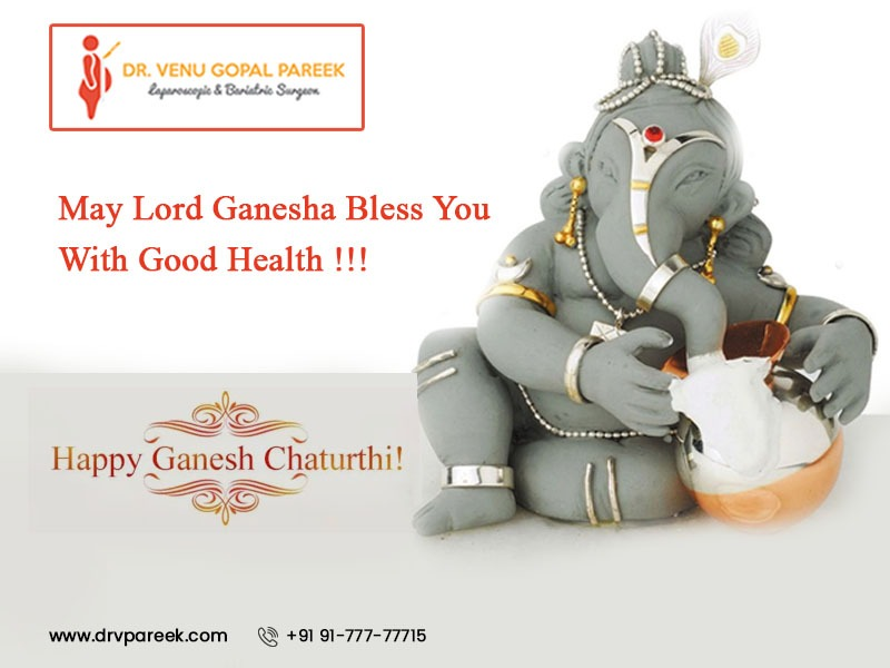 Ganesh Chaturthi festival wishes by Dr Venugopal Pareek, Best Laparoscopic and Bariatric surgeon in Hyderabad