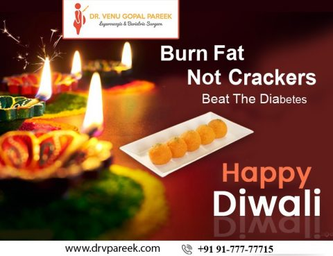 Diwali wishes by Dr. Venugopal Pareek, One of the best laparoscopic gallbladder surgery doctor in Hyderabad