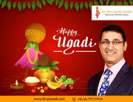 Happy Ugadi wishes by Dr. Venugopal Pareek, One of the best Bariatric surgeons in Hyderabad